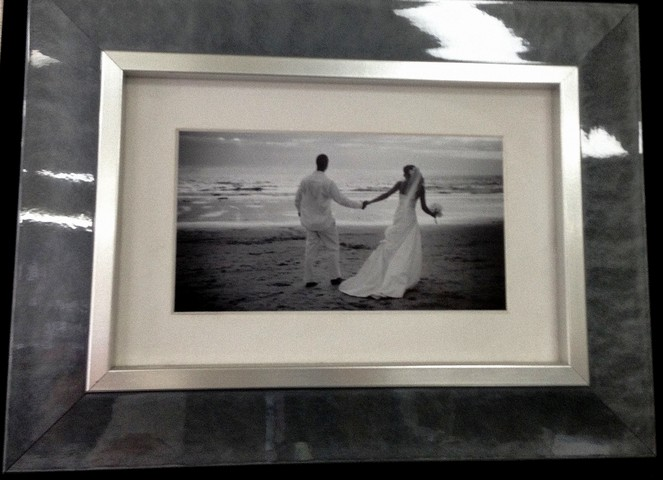 Modern Frame of wedding couple