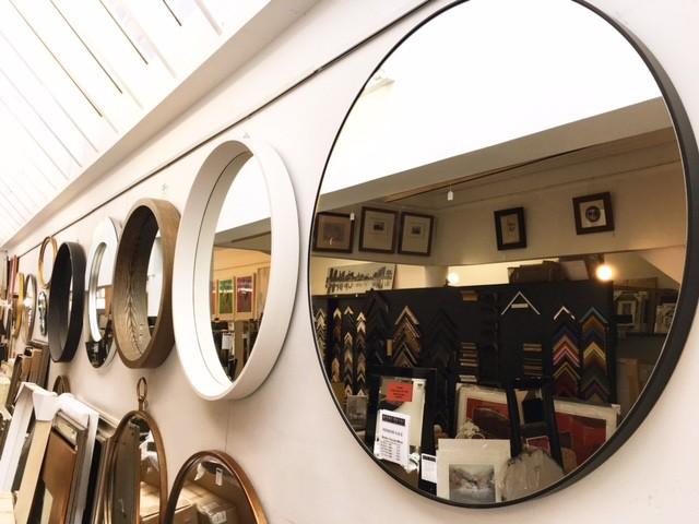 modern circular round mirrors in melbourne
