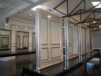 Large framed mirrors, hairdressing salon