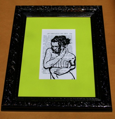 Modern Picture Framing-Black Ornate Frame-Bright Mat
