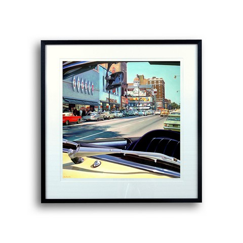 1950's American movie street scene