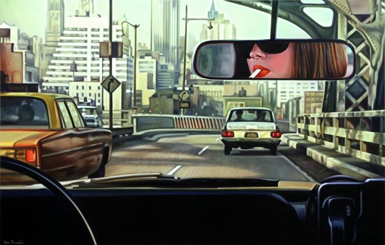 Retro America, Movies, Girl in Car