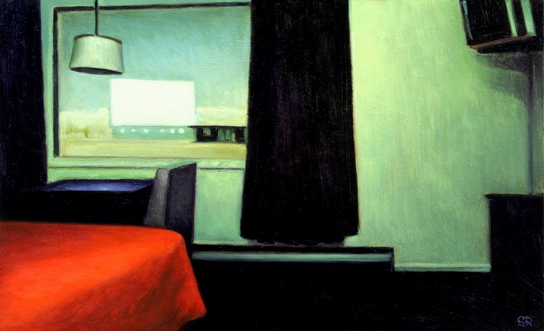 Image of Drive In in the 1950's, Edward Hopper style