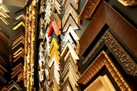 Sample board of bright coloured picture frames, Print Decor, Melbourne