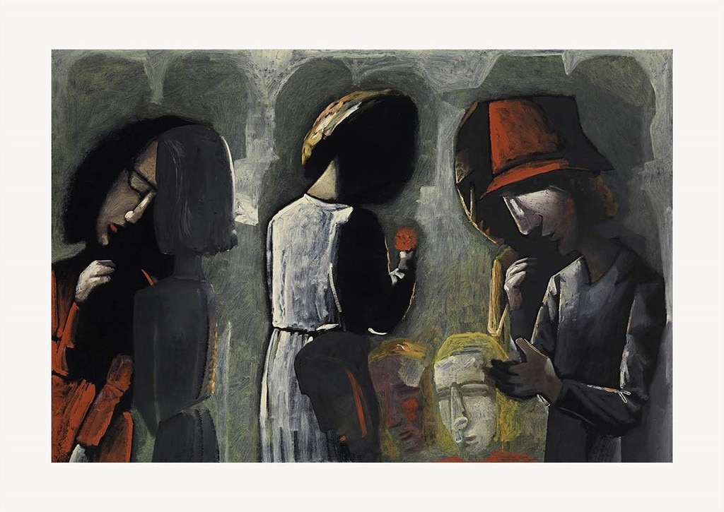 Dreaming In The Street by Charles Blackman