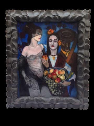 Black, Gothic ornate frame