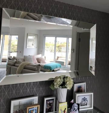 Print Decor Modern Angle Mirror In Situ